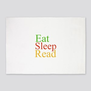 Eat Sleep Read 5'x7'Area Rug